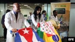 Foto de archivo. Médicos cubanos en Brasil.