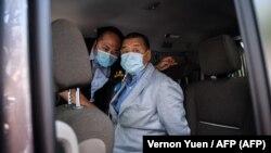 La policía de Hong Kong arresta al empresario y activista Jimmy Lai, agosto 10, 2020