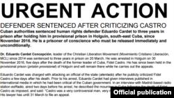 Acción Urgente por el doctor Eduardo Cardet.