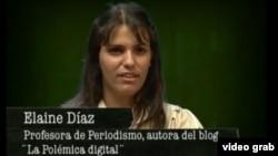 Elaine Díaz, la autora de La polémica digital.