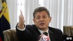 Fotografía de archivo expresidente del Directorio del Banco Central de Ecuador, Pedro Delgado