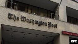 Vista general de la fachada del edificio del periódico The Washington Post, en Washington (EE. UU.).