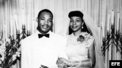 Boda de Martin Luther King y Coretta Scott, celebrada el 18 de junio de 1953.