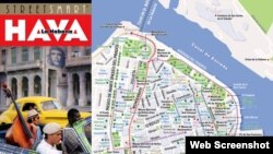 Los dos mapas de Cuba editados por Van Dam.