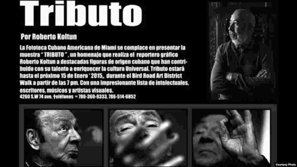 Tributo, exposición de la Fundación Fototeca Cubanoamericana sobre personalidades cubanas