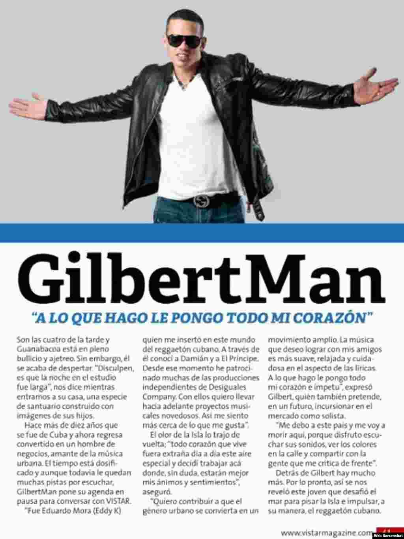 Gilberto Martínez entrevistado por la revista Vistar Magazine.