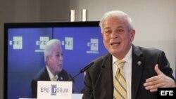 El alcalde de Miami, Tomás Regalado, en el foro de líderes organizado por EFE.