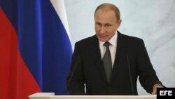 Putin pronuncia el discurso sobre el estado de la nación ante el Parlamento en pleno (4 de diciembre, 2014).