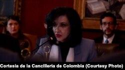 Claudia Blum ministra de Relaciones Exteriores Colombia