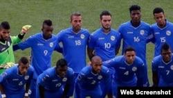 La selección nacional de fútbol de Cuba.