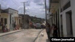Acto de repudio y arrestos Santa Clara 23 junio foto Yoel Bencomo