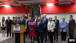 El gobernador de Nueva York, Andrew Cuomo en La Habana con una delegación comercial.
