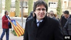 Carles Puigdemont, nuevo presidente de la Generalitat de Cataluña, cuando era alcalde de Girona.