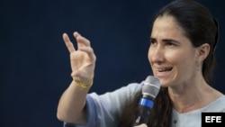 La disidente cubana Yoani Sánchez en foto de archivo
