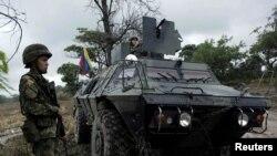 Soldado colombiano en la frontera con Venezuela. Archivo.
