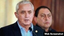 Presidente Otto Pérez Molina. Rueda de Prensa, Guatemala.