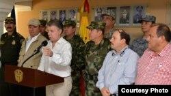El presidente de Colombia, Juan Manuel Santos ordena ataque contra ELN.