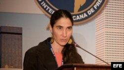 Foto de archivo de la bloguera cubana Yoani Sánchez en la SIP.