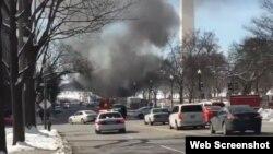 Explosión en una calle cerca de la Casa Blanca.