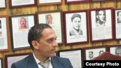 Rolando Rodríguez Lobaina, en la Unión de Ex Presos Políticos Cubanos, del Área Noreste de EEUU.