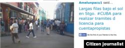 Reporta Cuba cuentapropistas hacen colas para sacar patente @AMELUNPACU