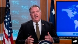 El secretario de Estado Mike Pompeo. (Nicholas Kamm/Pool Photo via AP)