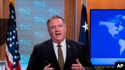 El secretario de Estado Mike Pompeo. (Nicholas Kamm/Pool Photo via AP)