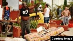 Daños provocados por huracán Irma en La Habana. Foto Cortesía de El Morro Productions INC