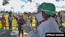 Audiencia sanitaria en Consolación del Sur. Foto tomada de Telepinar.