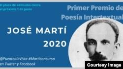 El plazo de admisión del primer Premio de Poesía Intertextual José Martí vence el 1ro de junio.