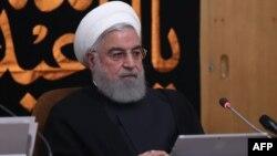 Presidente de Irán Hassan Rouhani durante una reunión del gabinete en Teherán