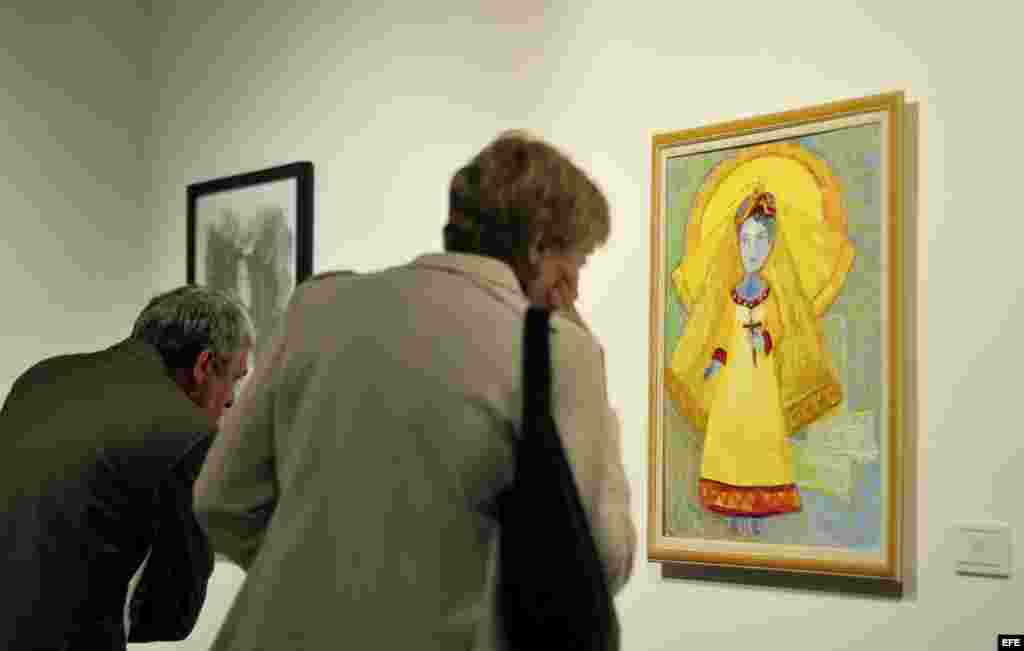 """Obra """"Cachita"""", de la artista cubana Sandra Dooely, que integra la exposición """"Virgen de la Caridad del Cobre"""" inaugurada en el Centro Naciona"""