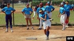 Equipo cubano de béisbol femenino. Archivo