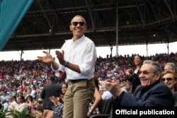 El presidente Obama en el Estadio Latinoamericano.