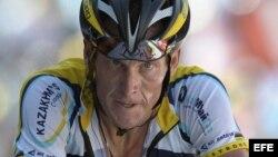 El ciclista estadounidense Lance Armstrong en el Tour de Francia.