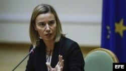 La jefa de la diplomacia de la UE, Federica Mogherini. Foto de archivo.