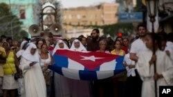 Procesión de la Virgen de la Caridad el 8 de septiembre de 2019. AP Photo/Ismael Francisco