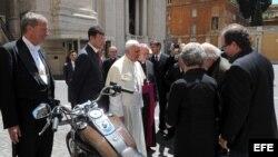 Papa Francisco en la sede del Vaticano.