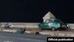 La escena tras el mortal accidente en Malecón y 23.