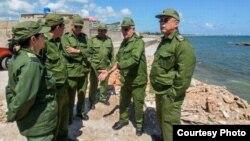 Militares cubanos de la Región Estratégica Oriental. Foto Archivo.