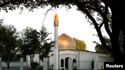 Vista de la Al Noor mezquita en Christchurch tomada en 2014.