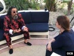 Diego El Cigala en entrevista con Roxana Romero de TV Martí.