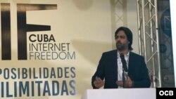 Fernand R. Amandi presenta resultados de la encuesta realizada en Cuba en CIF2017.