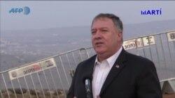 Secretario de Estado de EEUU, Mike Pompeo visita Altos del Golán