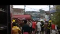 Incendio en Santiago de Cuba