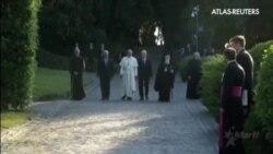 El Papa reúne a los presidentes israelí y palestino en un rezo por la paz