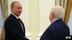 EL MINISTRO DE ASUNTOS EXTERIORES SIRIO, WALID AL MUALEM, VISITA MOSCÚ