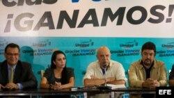 Los diputados electos venezolanos de la Mesa de la Unidad Democrática. EFE