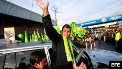 El presidente de Ecuador, Rafael Correa es el favorito en estos comicios electorales, según encuestas.