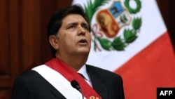 Alan García, expresidente de Perú.